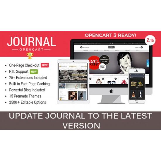 Opencart Journal 2 Teması